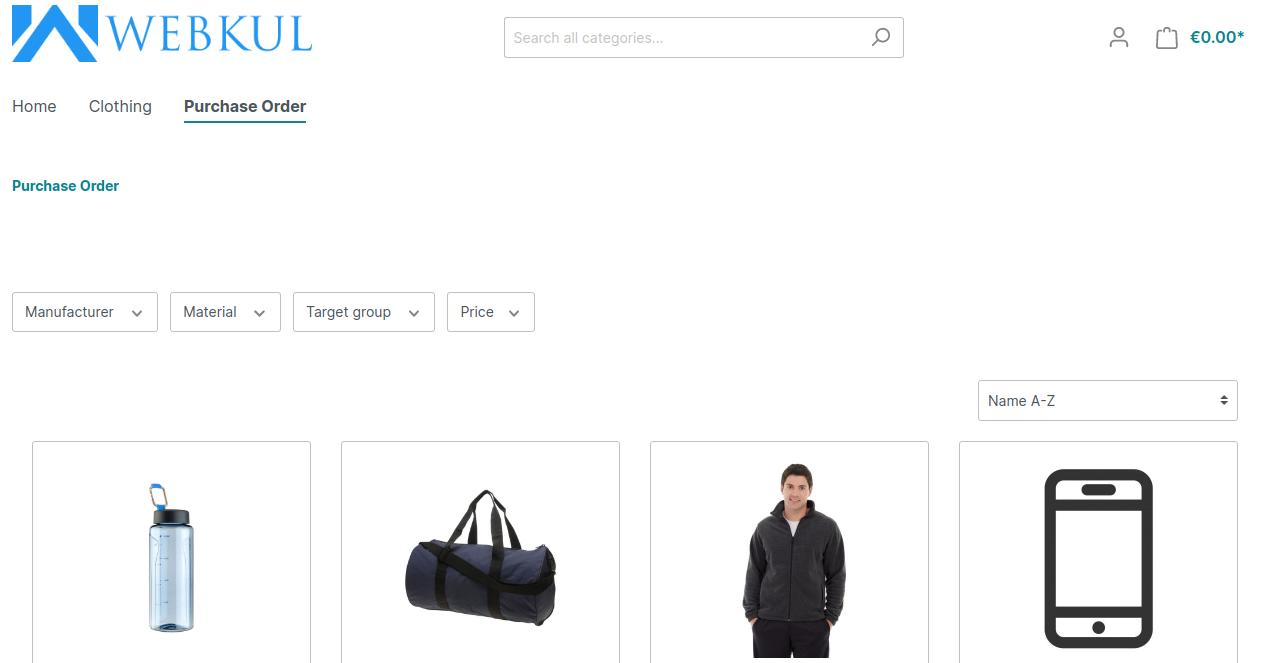 Shopware6-PO-Admin-End   Purchase Order for Shopware 6