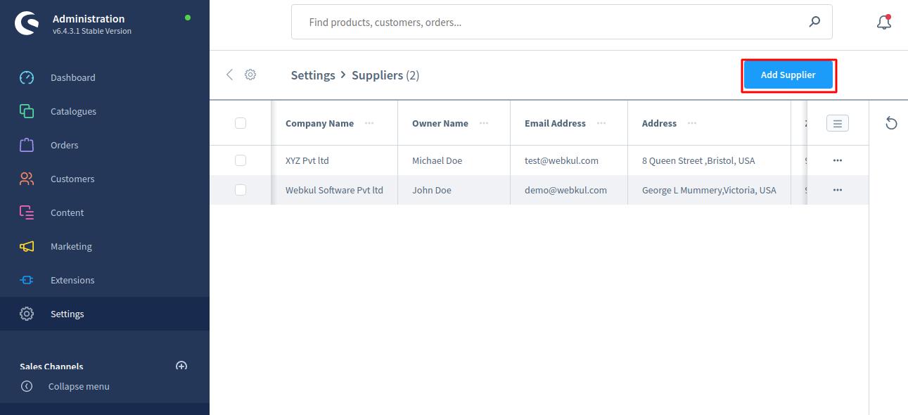 Shopware6-PO-Supplier-Add-Supplier