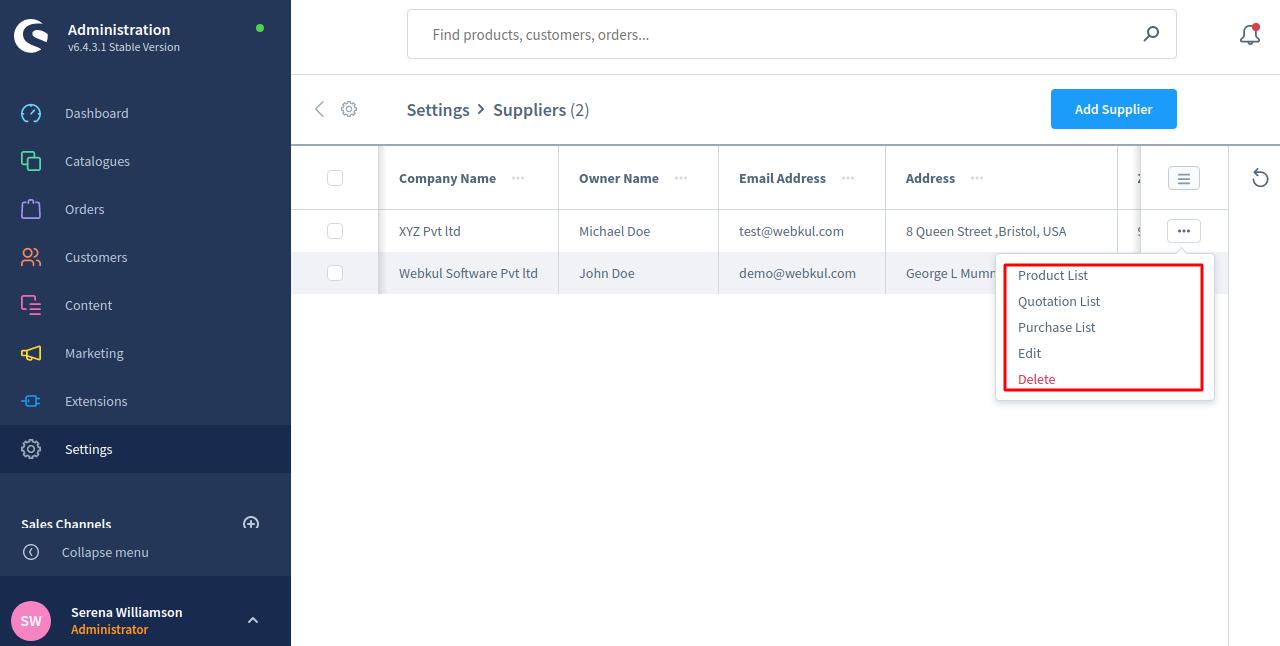 Shopware6-PO-Supplier-details-edit