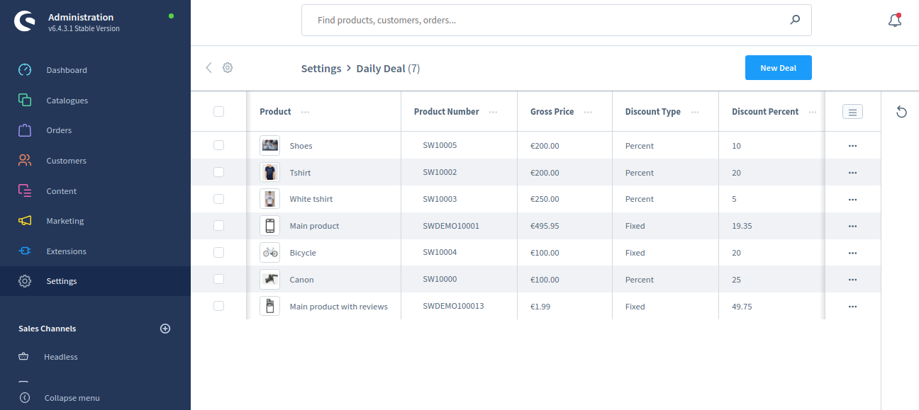 Shopware6-daily-deal-settings-daily-deal