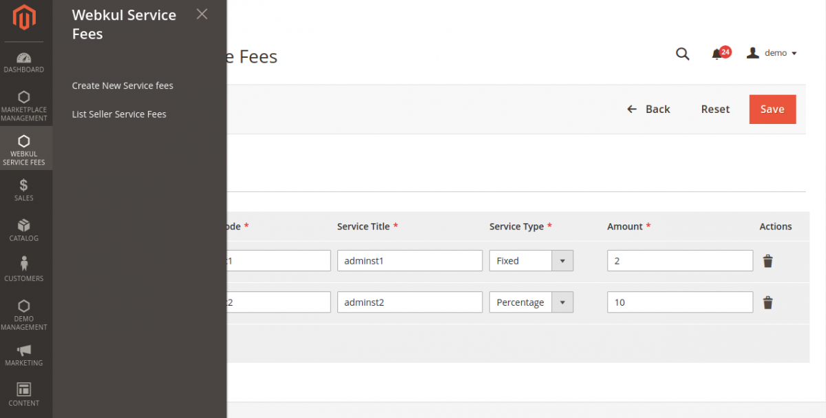 Webkul-Service-fee
