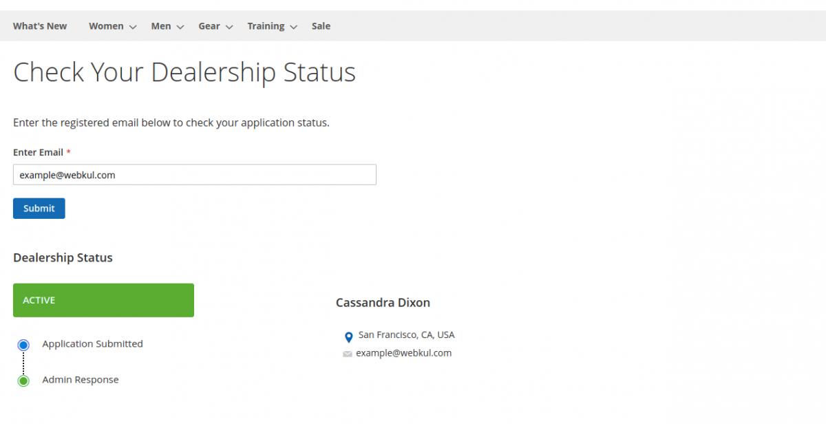 dealership status- Active-Magento2 Dealership Extension
