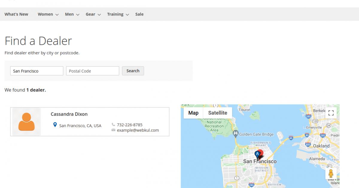 find a dealer-Magento2 Dealership Extension