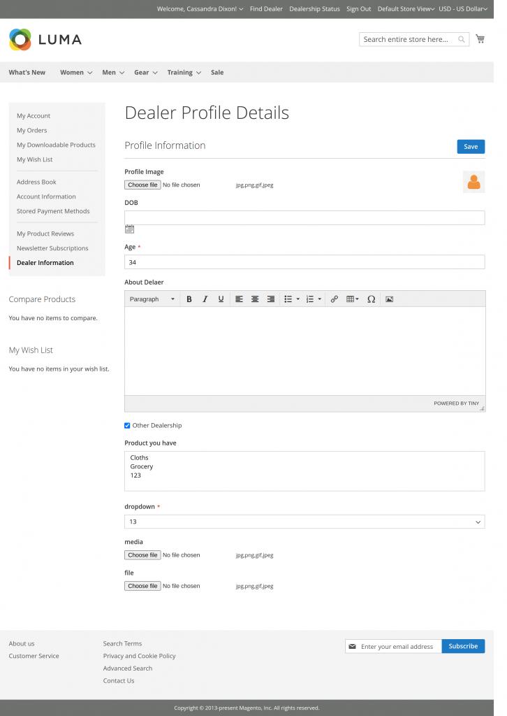 Dealer Information-Magento2 Dealership Extension