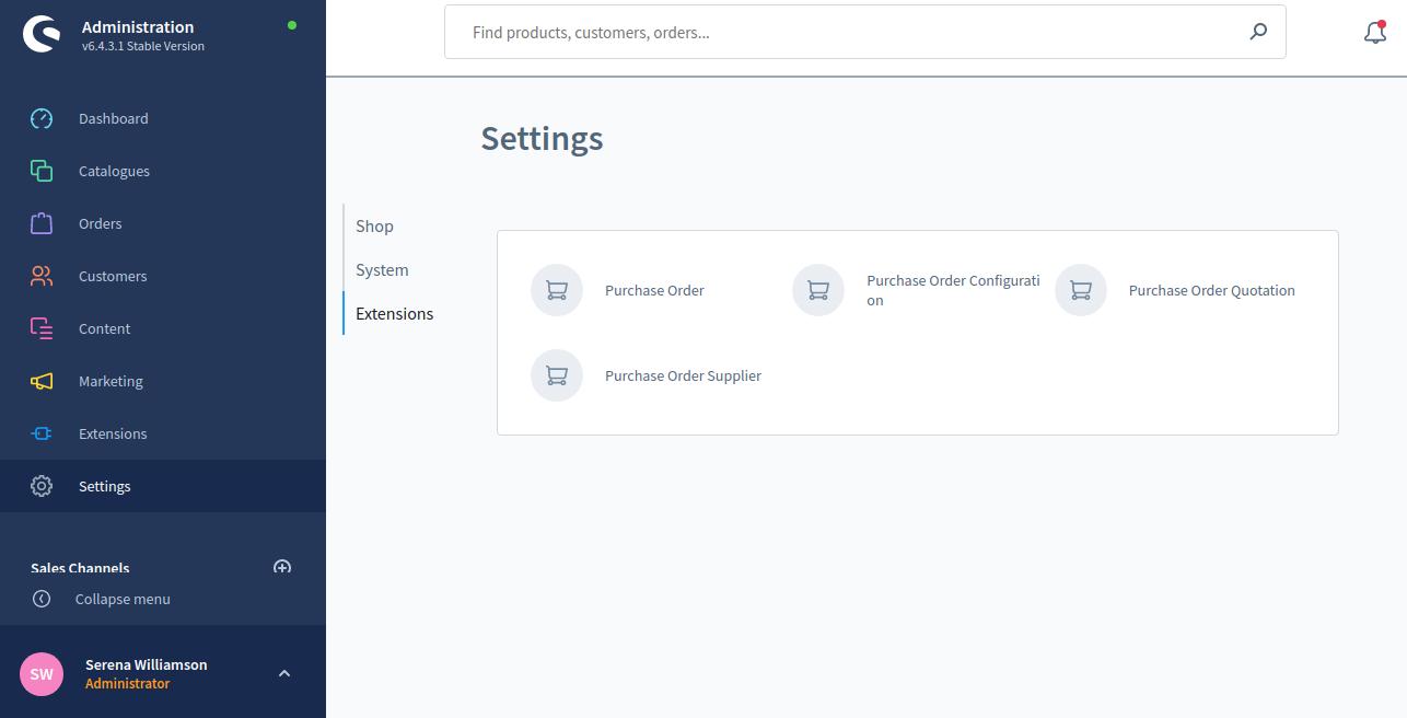 shopware6-PO-configuration