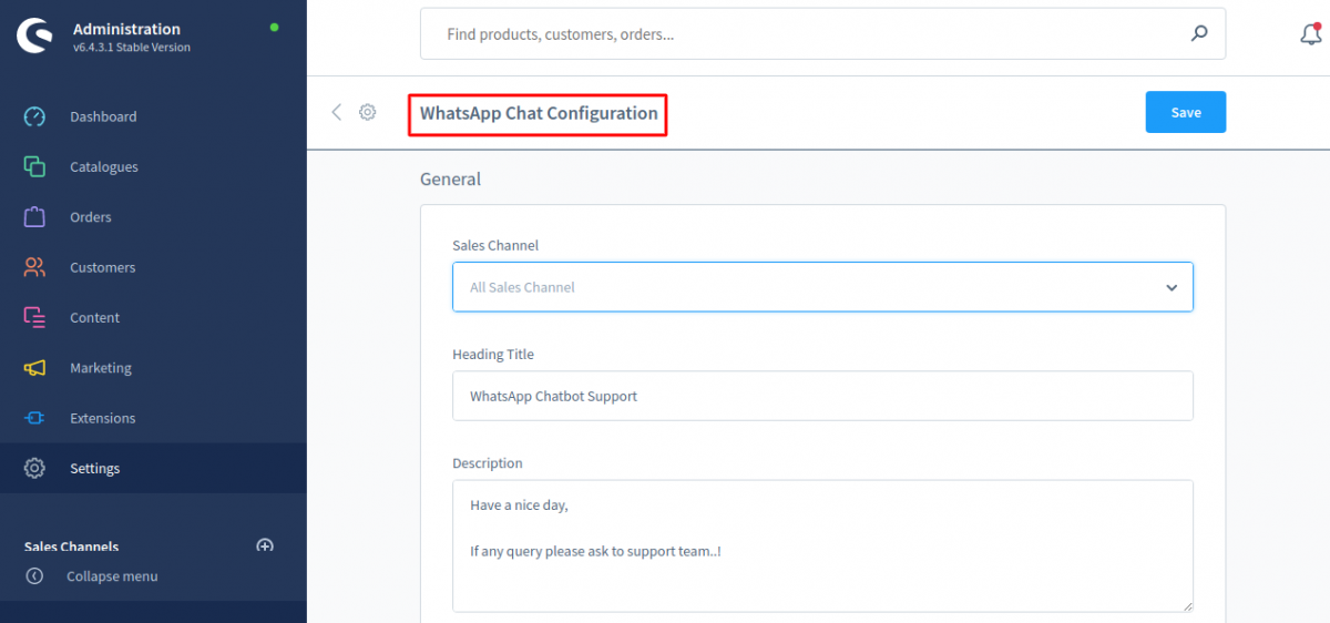whatsaap-configuration