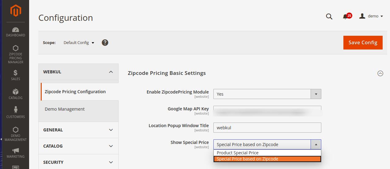 Configure-to-zipcode-pricing